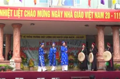 Tiết mục quan họ Ba quan mời trầu - Giáo viên THPT Nguyễn Binh Khiêm