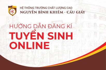 Hướng dẫn đăng ký tuyển sinh trực tuyến tại Hà Nội năm học 2019 - 2020....