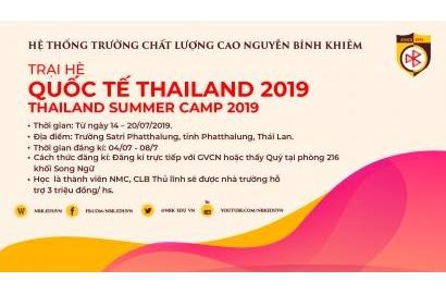 ĐĂNG KÝ THAM GIA TRẠI HÈ QUỐC TẾ TẠI THÁI LAN 2019