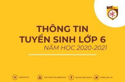 [THCS] THÔNG TIN TUYỂN SINH LỚP 6 NĂM HỌC 2020-2021