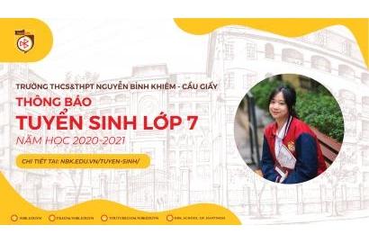 [THCS] THÔNG TIN TUYỂN SINH BỔ SUNG LỚP 7 NĂM HỌC 2020-2021