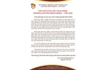 THƯ NGỎ CỦA THÀY HÒA - CHỦ TỊCH HĐQT GỬI QUÝ CMHS