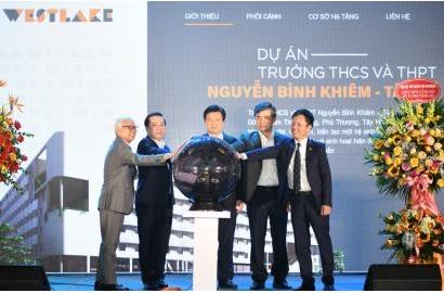 [GIÁO DỤC THỜI ĐẠI]  Ra mắt dự án Trường THCS&THPT Nguyễn Bỉnh Khiêm - Tây Hồ