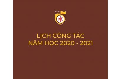 LỊCH CÔNG TÁC NĂM HỌC 2020 - 2021