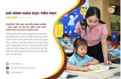 02 mô hình lớp học tại trường Tiểu học Nguyễn Bỉnh Khiêm - Cầu Giấy